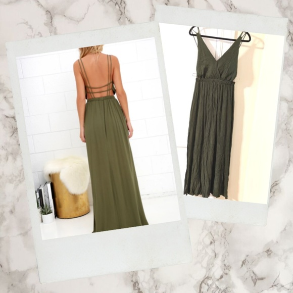 Lulu's Dresses & Skirts - Lulus ▪ Lost in Paradise Cage Back Maxi Dress